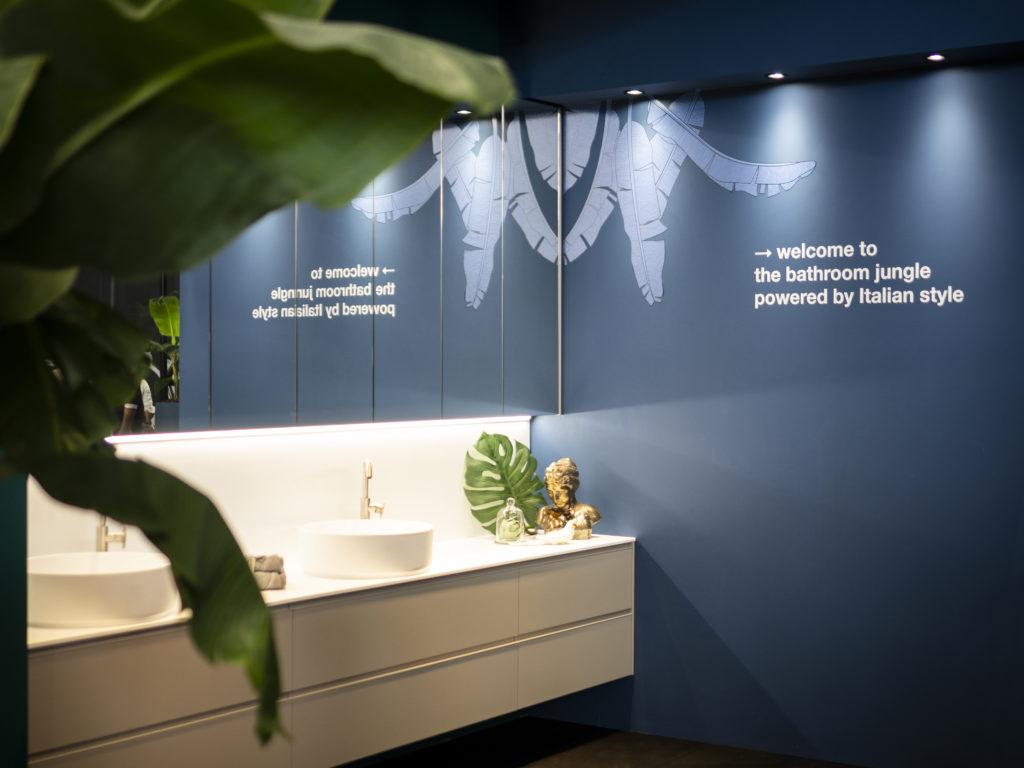 interior design Turella Nico Celidoni progetto allestimento fiera evento aziende arredo bagno RCR box doccia CSA AQUA elite