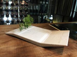 materia materiae luxury interior design Turella Nico Celidoni progetto video ristorante piatto marmo carrara food concept michelin stars cous cous