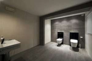 interior design Turella Nico Celidoni progetto allestimento Fuorisalone Milano Design Week Brera Minguzzi fiera evento arredo bagno AquaClean