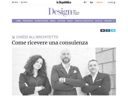 """""""Chiedi all'Architetto"""" su Repubblica.it"""